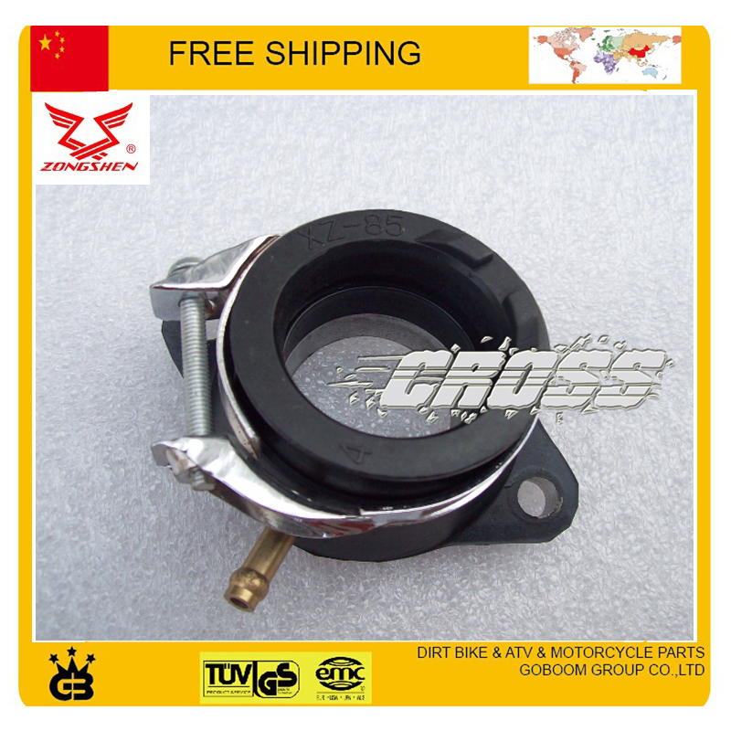 dirt bike spare parts Intake pipe Manifold connecting inlet Pipe ZS200GY 2 200cc motorcycle zongshen engine