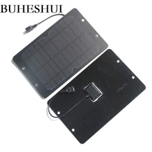 BUHESHUI 6W 6V 1000MA Solar Panel Charger Monocrystalline PET Solar Panel Battery Bicycle Sharing Solar Charger Free Shipping