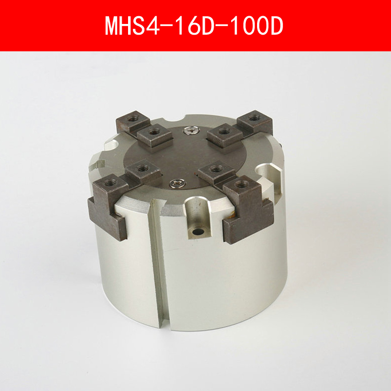 MHS4 16D 20D 25D 32D 40D 50D 63D 80D 100D Parallel Style Air Gripper 4 Finger Double Action Penumatic Cylinder Bore 16-100mm high quality double acting pneumatic gripper mhy2 25d smc type 180 degree angular style air cylinder aluminium clamps