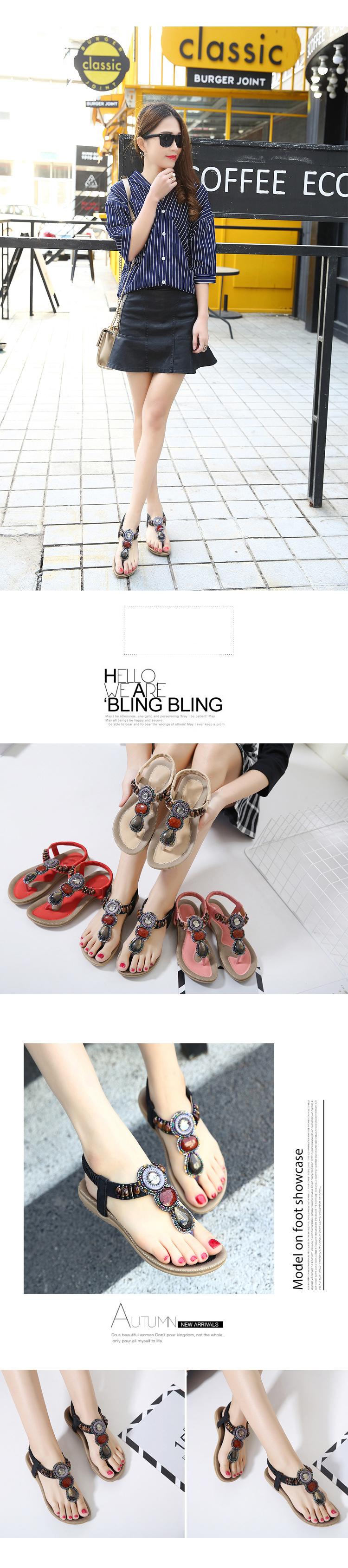e37eecddf Summer Women Sandals Simple Comfortable Bohemia Beach Sandals Women ...