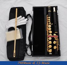 ALTO Flute-Silver Plated-African Blackwood Grenadilla-G Key-Gold Plated