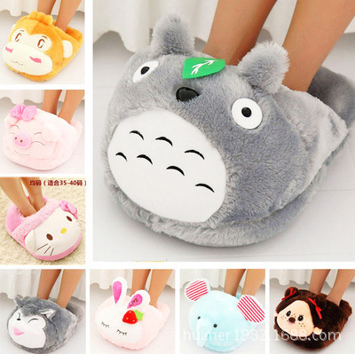 Cute cartoon Winter Totoro panda Monkey pig dog elephant feet warm feet cover warmer pillow plush toys цена 2017