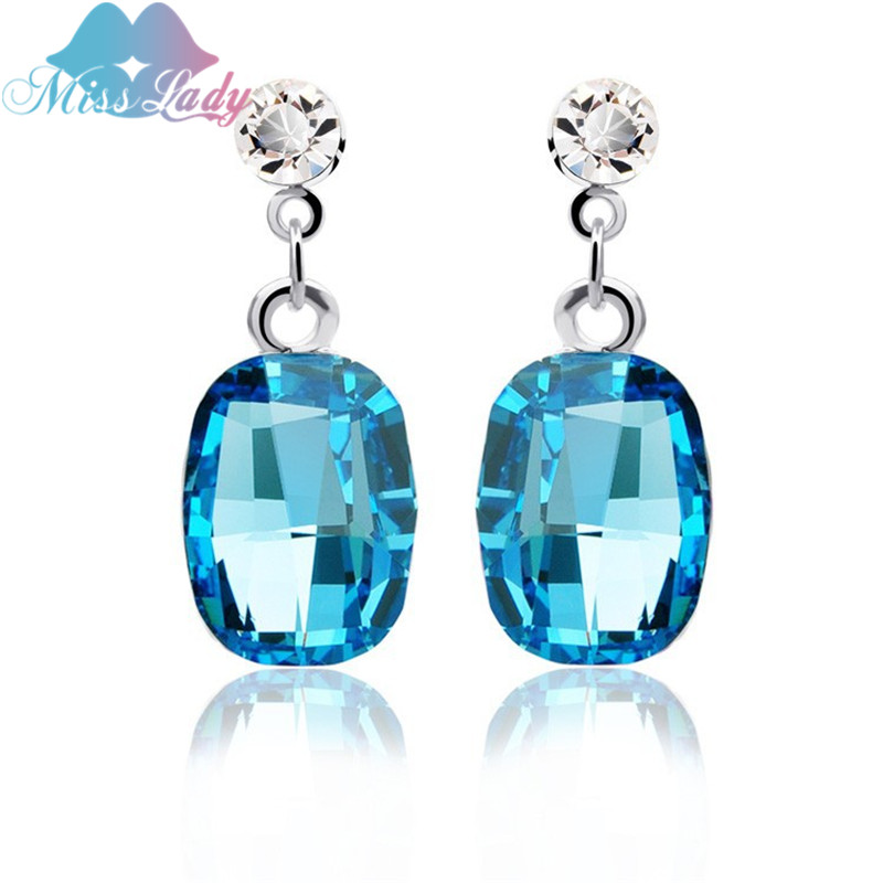 ٩(^‿^)۶Miss Lady Rose Gold color Korean fashion Crystal Square ...