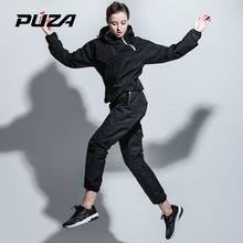 Здесь можно купить  Puza Womens Black Slimming Sweating Suits Heavy Duty Running Sets Training Exercise Yoga Gym Sportswear Girl Reduce Weight Cloth