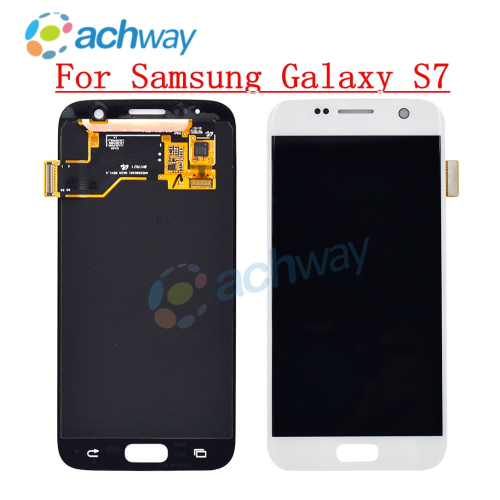 For <font><b>SAMSUNG</b></font> <font><b>GALAXY</b></font> <font><b>S7</b></font> G930A G930F SM-G930F LCD <font><b>Display</b></font> Touch Screen Digitizer Assembly Pantalla Replacement For <font><b>SAMSUNG</b></font> <font><b>S7</b></font> LCD image