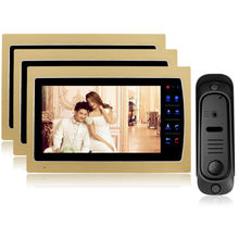 Homefong 7 inch tft Wired Video Door Phone Intercom Home Security  Night Vision 800TVL Camera Support SD Card Recording