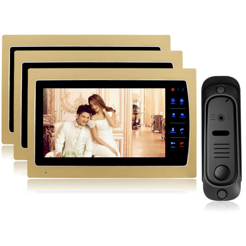 Homefong 7 inch tft Wired Video font b Door b font Phone Intercom Home Security Night