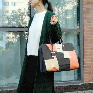 Image 3 - Женская сумка, дизайнерские сумки, высококачественные женские сумки, женская сумка тоут в стиле пэчворк, женская сумочка с металлической подвеской, SY2136