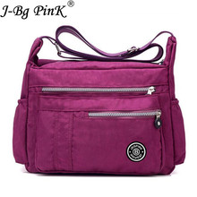 J-BG PinK Women Famous Brand Big Nylon Shoulder Beach Bag Casual Tote Female Crossbody Bags sac Femme Bolsa Feminia 2017 New
