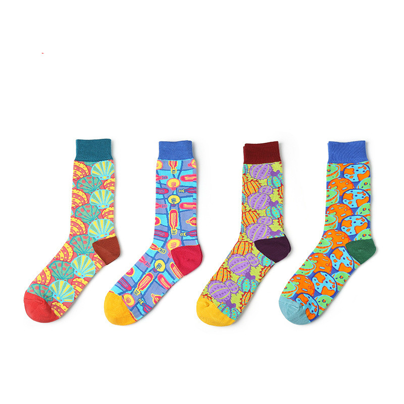 High Quality Autumn Cotton Tube Male Mens Sock Street Style Hip Hop Socks Harajuku Fashion Designer Skateboard Sock To Enjoy High Reputation In The International Market Men's Socks