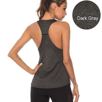 VEQKING Sleeveless Racerback Yoga Vest,Women Sport Singlet,Athletic Fitness Sport Tank Tops,Gym Running Training Yoga Shirts 8