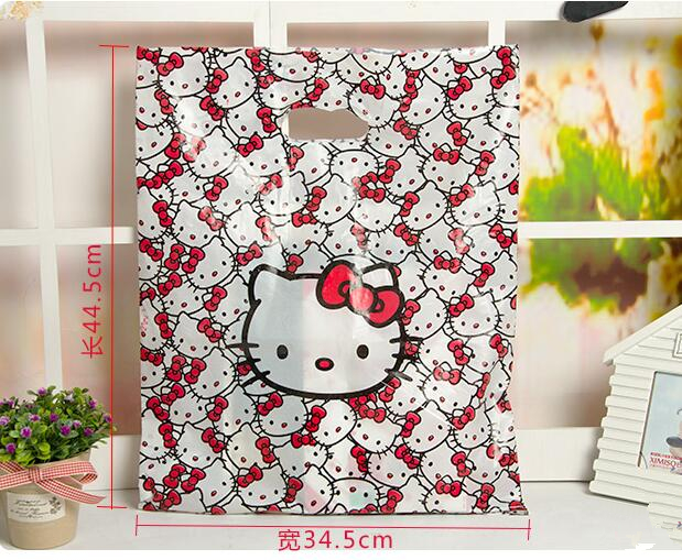 (100 Pcs Lot) Cartoon Hello Kitty Candy Dessert Gift Small Plastic Party  Bags Size 34.5 44.5CM-in Gift Bags   Wrapping Supplies from Home   Garden  on ... 08efce6ed3c6d