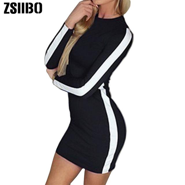 2020 Long sleeve women sexy mini dress