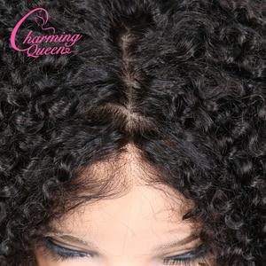 Image 4 - Charming Queen ผ้าไหมฐาน Wigs ลูกไม้เต็มรูปแบบผมมนุษย์ Wigs สำหรับผู้หญิง 150% Afro Kinky CURLY บราซิล Remy Wigs ผมผมเด็ก
