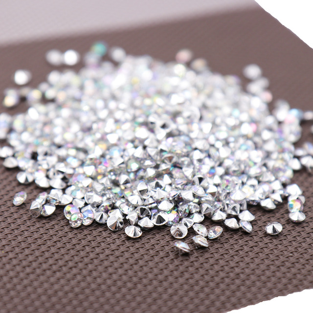 1000PS 4.2mm Acrylic Diamond Confetti Wedding Decoration Crafts Diamond Confetti Table Scatters Clear Crystal Centerpiece Party 1