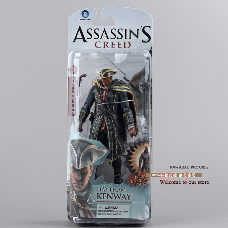 Anime Game Assassins Creed 4 Black Flag Haytham Kenway PVC Action Figure Kids Toy Gift 614cm MVFG129