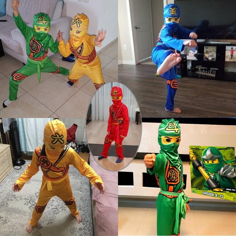 Ninjago Costume Boys Costumes Children Fancy Party Dress Up Carnival Halloween Costume for Kids Ninja Cosplay Superhero Jumpsuit 4