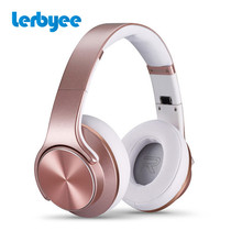 LERBYEE Fashion Sport Headphone Bluetooth Wireless Headset Microphone Headset Travel Sport Foldable Headset for iPhone Android