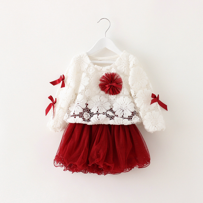 Baby Dresses Lace Patchwork Princess Dress Fashion Baby Girl Dresses Party and Wedding 1-3T Baby Girl Clothes YZ05