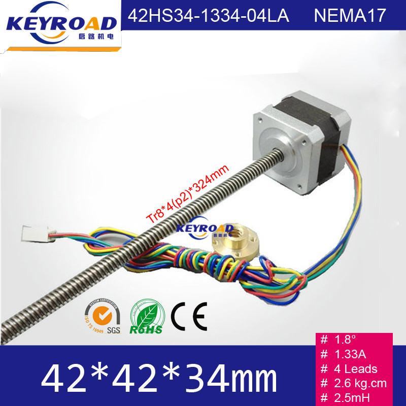 3D printer linear stepper motor 42mm NEMA17 screw rod stepper motor TR8*4(P2) lead screw linear stepper