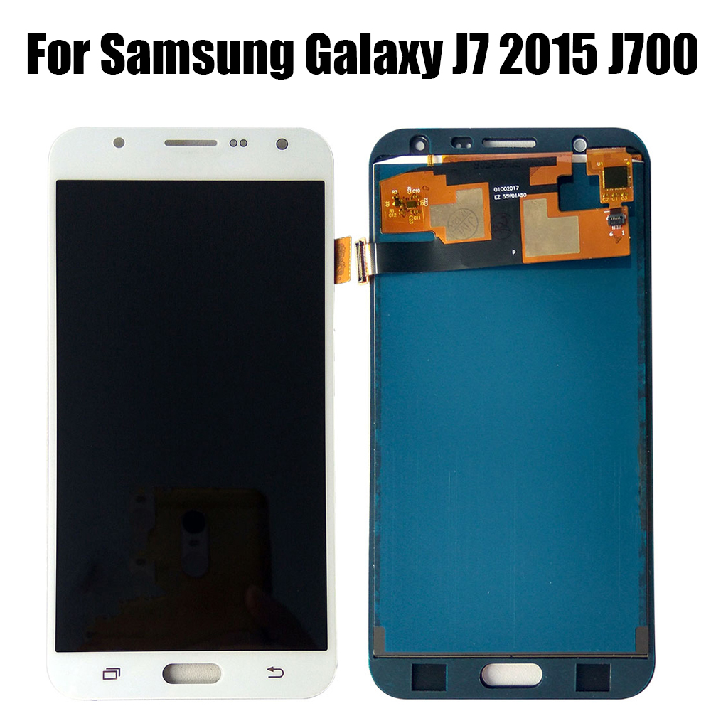 AAA <font><b>LCD</b></font> For <font><b>Samsung</b></font> Galaxy <font><b>J700</b></font> <font><b>LCD</b></font> For <font><b>Samsung</b></font> Galaxy J7 2015 <font><b>J700</b></font> J700F J700M <font><b>LCD</b></font> Display Touch Screen Digitizer Assembly image