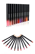 Make up set 12 colors lip gloss proof Lipstick & Pencil sharpener remover Cosmetic combination Waterproof Lip make