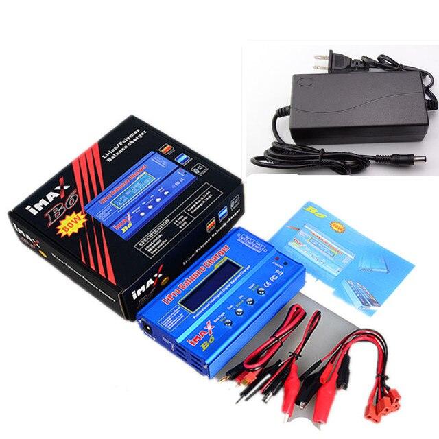 Carregador de bateria iMAX B6 Lipro Charger Balance Lipro Charger Balance Digital + 12 v Power Adapter 5A + Cabos De Carregamento
