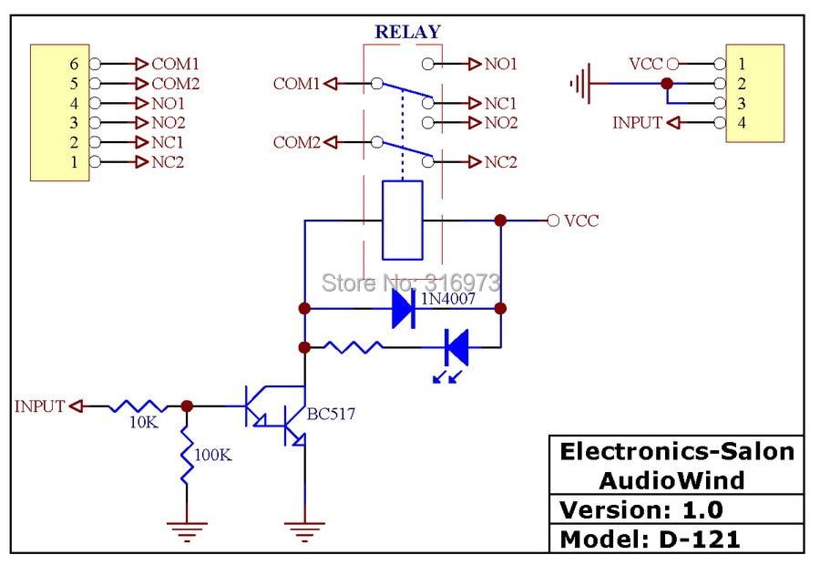 dpdt signal relay module 5vdc takamisawa ry5w k relay has rh aliexpress com Simple Circuit Diagrams Schematic Circuit Diagram