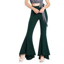 f9f5f474db290 7 couleurs vente femmes pantalon de mode flare pantalon Large jambe fonds  de cloche 2018 nouveau style taille haute pantalon liv.