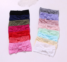 15 pcs/lot , Knotted Nylon Headband , Top Knot Turban Nylon head wraps for Birthday Party gift knot front pep hem striped top with skirt
