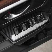 혼다 CR-V crv 액세서리에 대 한 abs 탄소 섬유 2017 2018 자동차 도어 창 단추 패널 유리 스위치 커버 트림 자동차 스타일링 4pcs