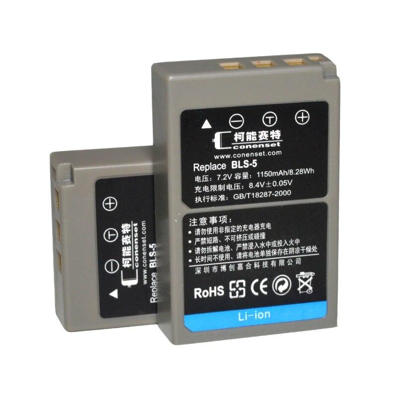 2 PZ BLS-BLS-50 BLS50 Batteria Per Olympus OM-D e-M10 Mark II III E-PL8 E-PM1 E-PL5 E-PL6 E-PM2 Stylus 1 1 s fotocamera