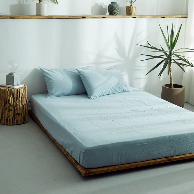 Soft Cotton Twin Queen Bed Sheets Ed Sheet With Elastic Rubber Mattress Cover Linen 120 140 150 160x200cm