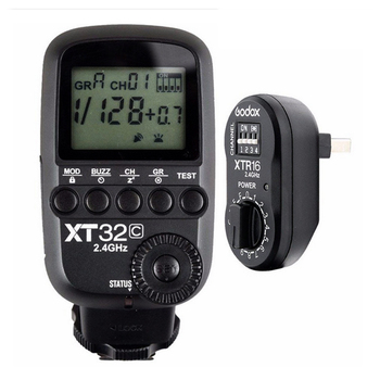 Godox XT32C Wireless Power-Control Flash Trigger Transmitter Built-in 2.4G Wireless X System 1/8000s HSS for Canon Cameras