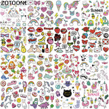 ZOTOONE Stranger Things Iron on Cute Animal Patches for Kids Clothes DIY T-shirt Applique Heat Transfer Vinyl Dog Unicorn Patch