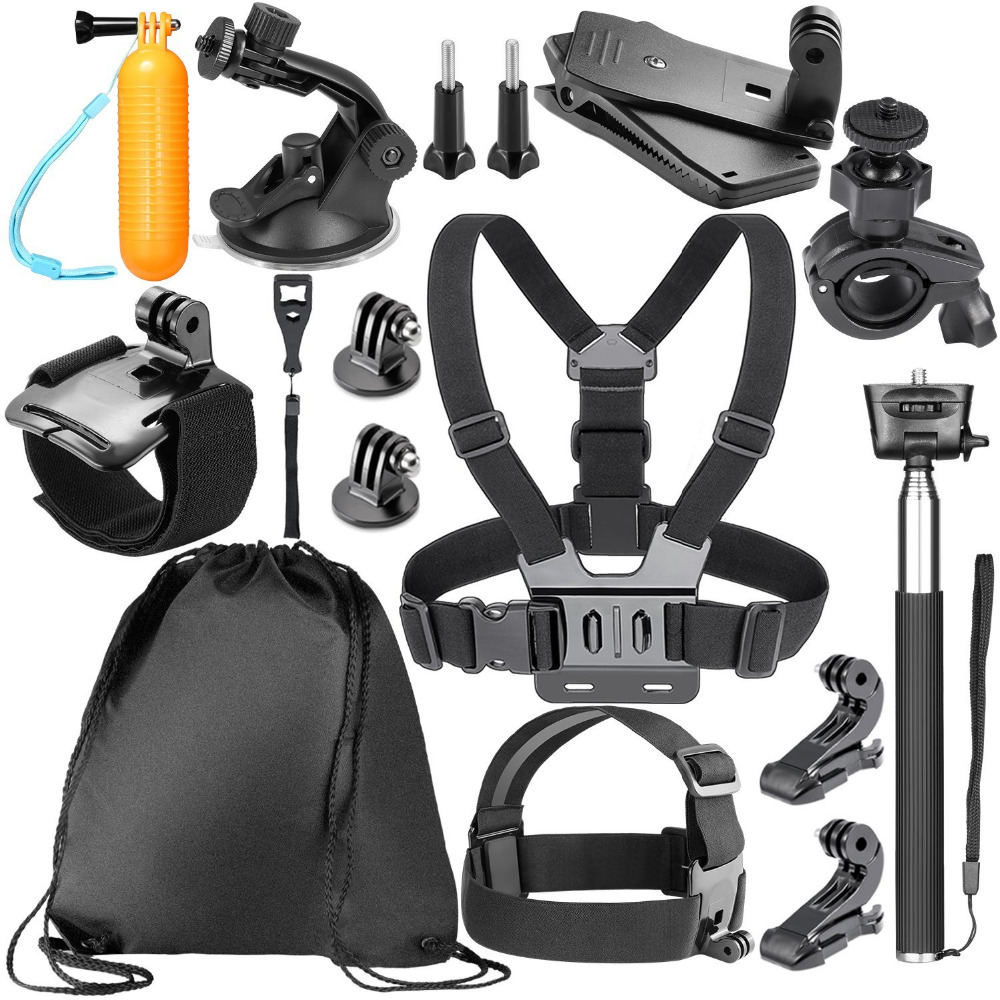 Neewer 14-in-1 Action Camera Accessory Kit for GoPro Hero5 Session / Hero 1 2 3 3+ 4 5 6 SJ4000 5000 6000 Sony Sports DV