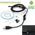 5.5mm Focus Camera Lens 1M/1.5M/2M/3.5M/5M Waterproof 6 LED Android Endoscope Mini USB Cable Endoscope Inspection Camera
