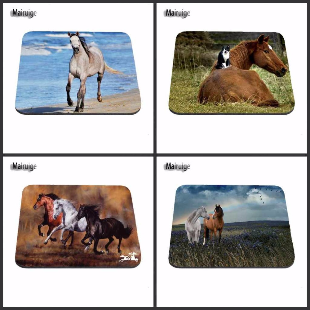 Cheap Luxury Print Cool Horse Gaming Mouse Pad Size 180X220X2MM 250X290X2MM And 25*20cm Lasting Computers and Laptops Mouse Pad image