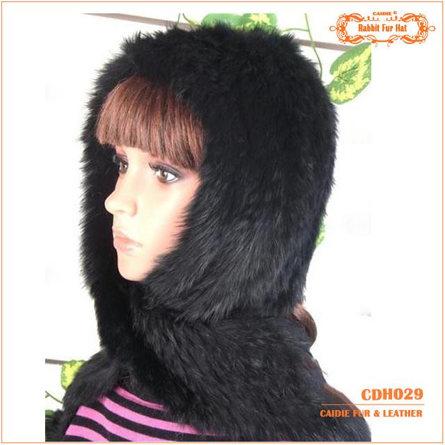 Venda Quente Chapéu de Pele de Coelho Com Lenço quente-Manter Aquecido No Vento E Neve No Inverno