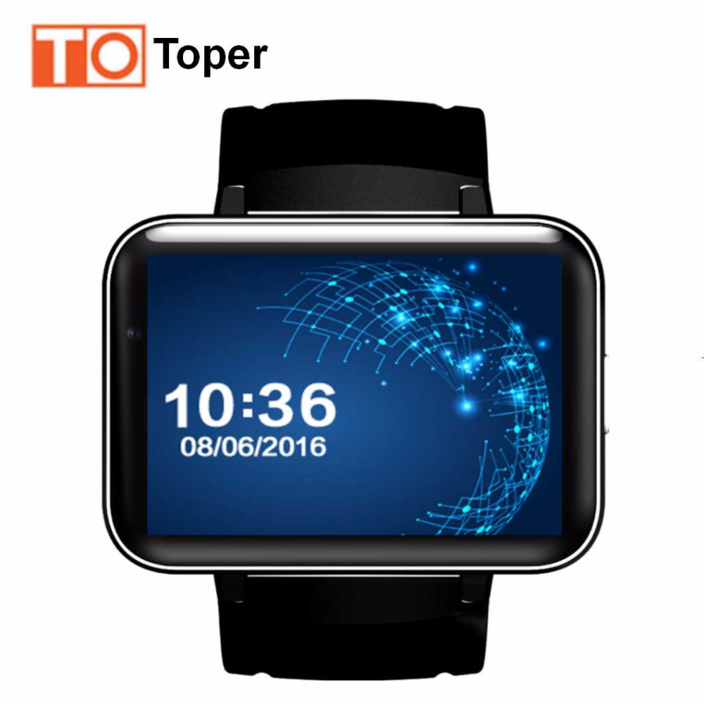 Toper New Bluetooth Smart Watch Phone DM98 MTK6572 Smartwatch Wristwatch 2G 3G SIM Android 5 1