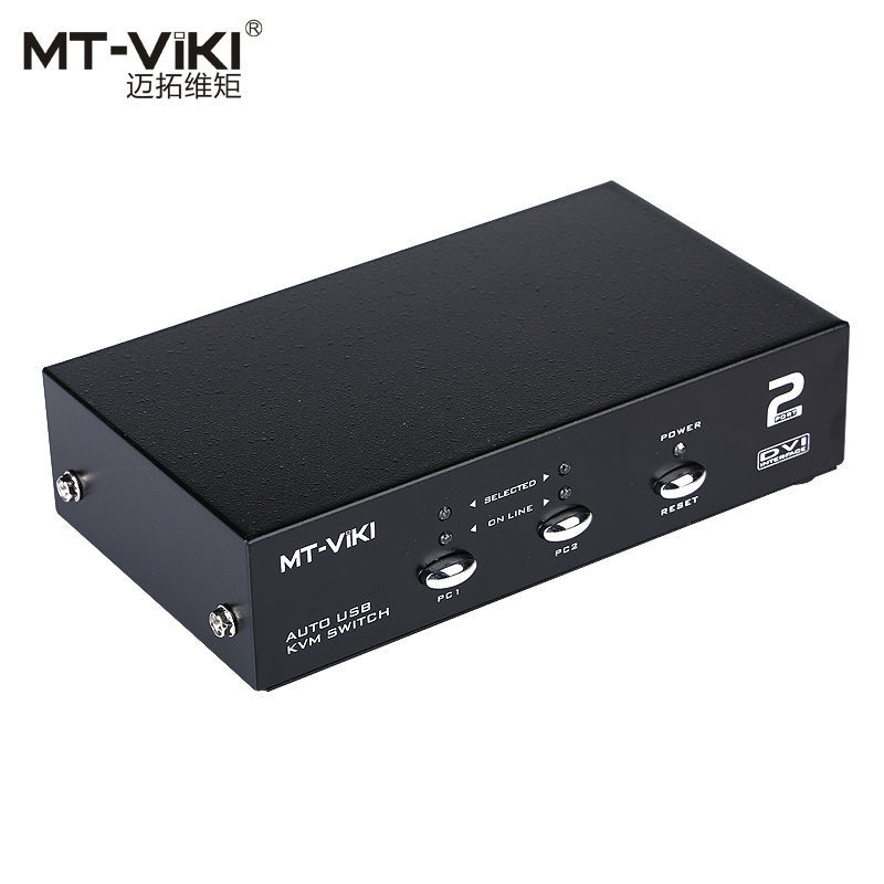 Mt-viki 2 Port DVI Switch USB2.0 KVM Switch with Audio USB Mouse and Keyboard, Auto Hotkey Switch PC Host Selector MT-2102DL mt viki 4 port usb 2 0 selector switch for 4 pc share 1 usb device like printer flash driver mouse keyboard 1a4b cf