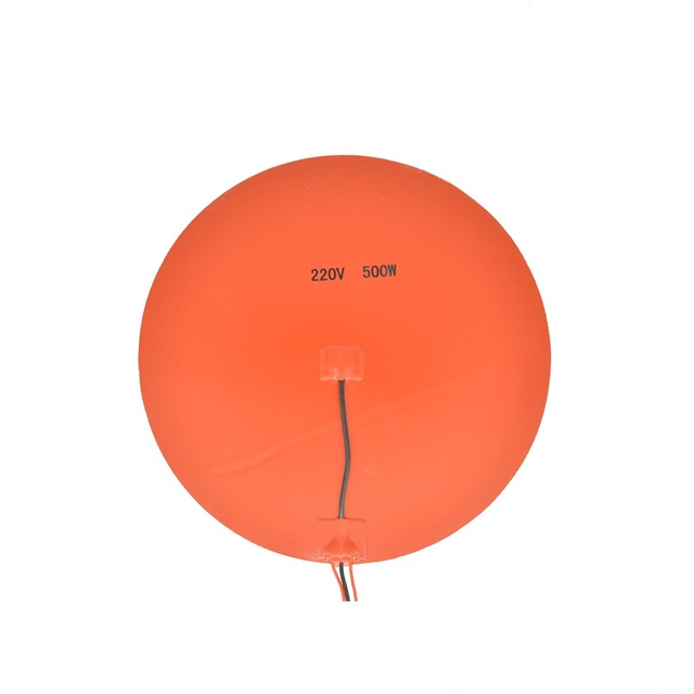 220V 300mm Round Silicone Rubber Heater Pad
