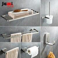 Stainless Steel Bathroom Towel Holder Hardware Set Wall Mounted Polished Paper Holder Bath Towel Bars Robe
