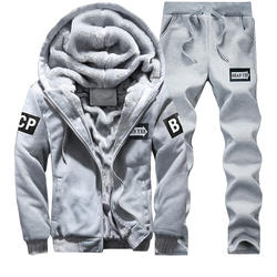 Зимний спортивный костюм, мужские комплекты 2018, повседневная мужская брендовая теплая верхняя одежда для отдыха, толстые флисовые