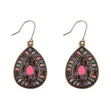 Ethnic Bronze Tassel Earrings