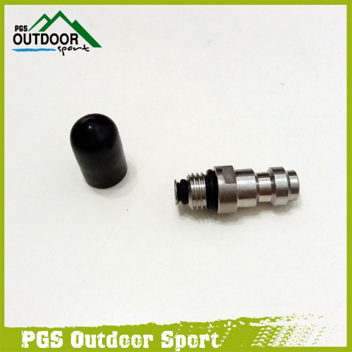 Paintball Airsoft PCP HPA Fill Fitting 8mm Male Quick Head Connection Disconnect Fill Nipple W/Check Valve One Way Foster M8*1.0