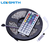 IP65 SMD 5050 RGB LED רצועת אור Waterproof 300 נוריות 5 M קלטת עם מרחוק בקר IR 44Key מיני LEDStrip גמיש סרט קלטת