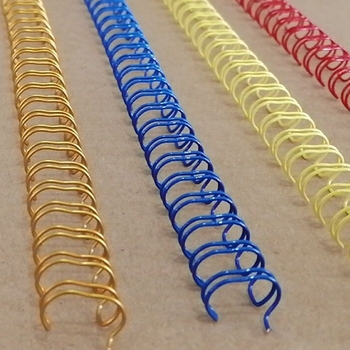 100PCS/BOX A4 Size 3:1 Pitch 34 rings 6.4-14.3mm Color steel iron double loop wires binding wire combs binding rings 1