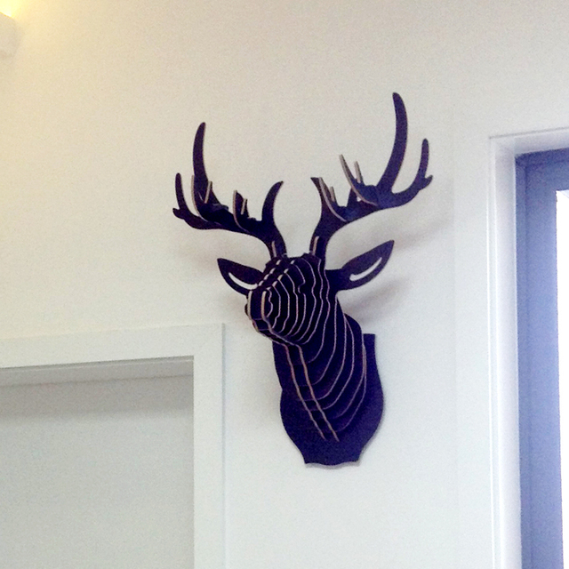 Wonderful NODIC Deer Head Wall,wooden Crafts For Home Decorations,animal Head Decor ,wood