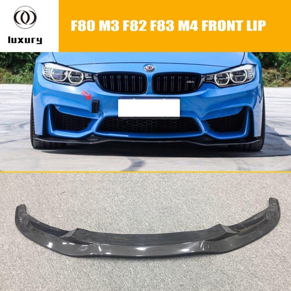 F80 F82 F83 PSM Estilo Fibra De Carbono Frente Lip para BMW F80 F82 F83 M3 M4 2012-2018 Auto Car Racing Front bumper Lip Spoiler